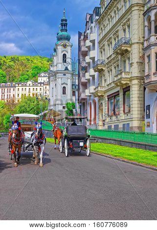 Saint Mary Magdalene Church At Promenade Karlovy Vary