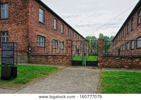 Entrance Gate Into Auschwitz Concentration Camp