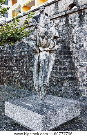 Sculpture At Resort In Ascona  In Switzerland
