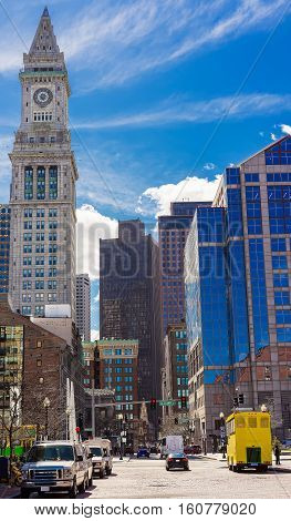 Financial District And Custom House Tower Of Boston