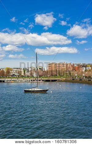 Sailboat And Charles River