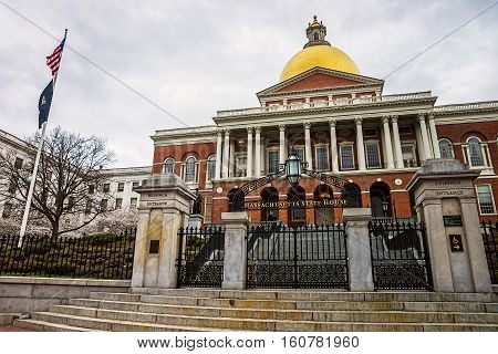 State Library Of Massachusetts At Downtown Boston Usa