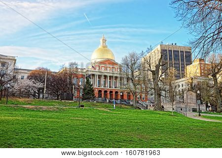 State Library Of Massachusetts In Boston Common Public Park