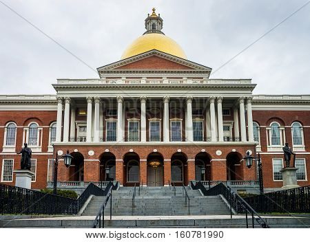 State Library Of Massachusetts In Downtown Boston