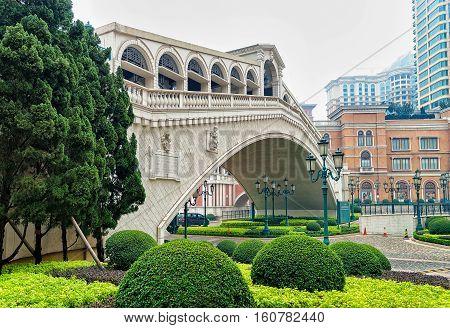 Bridge In Venetian Macau Casino And Hotel Luxury Resort Macao