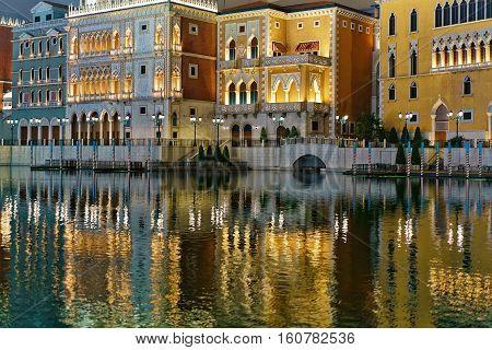 Canal At Venetian Macao Casino And Hotel Luxury Resort Macau