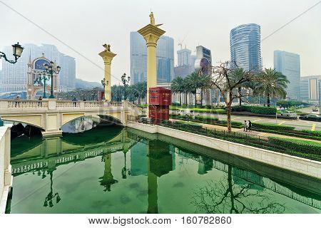 City Of Dreams And Canal Of Venetian Macau Casino