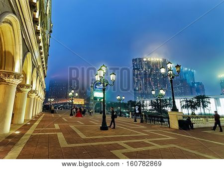 Embankment Of Venetian And City Of Dreams Macao