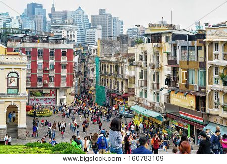 Historical City Center In Macao In China
