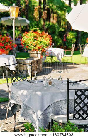 Typical Restaurant Terrace Ascona