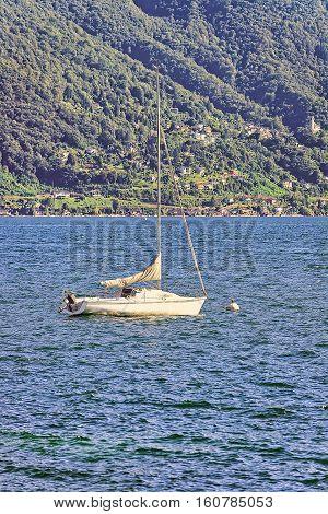 Boat At Pier In Ascona In Ticino In Switzerland