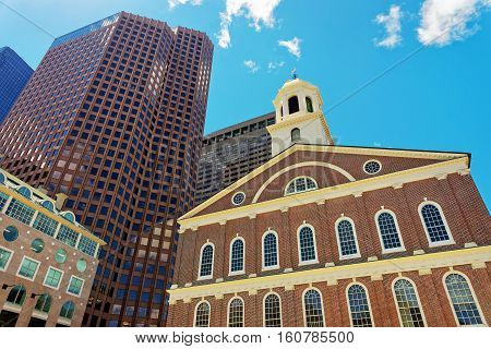 Faneuil Hall In Government Center At Downtown Boston