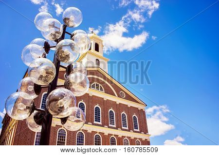 Faneuil Hall In Government Center At Downtown Of Boston Usa