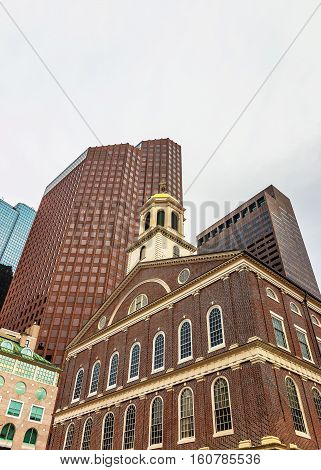 Faneuil Hall In Government Center In Downtown Boston In Usa