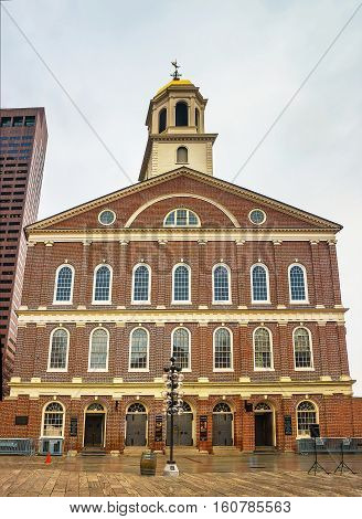 Faneuil Hall In Government Center Of Downtown Boston In Usa