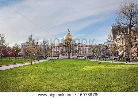 State Library Of Massachusetts And Boston Common Public Park