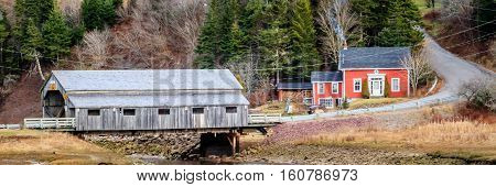 Irish river covered bridge in Saint Martin, New Brunswick, Canada