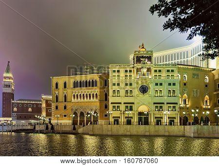 Venetian Macau Casino And Resort Late Evening