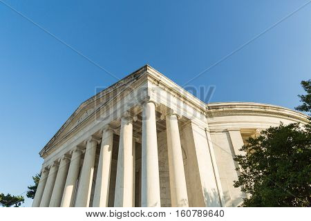 The Thomas Jefferson Memorial in Washington DC