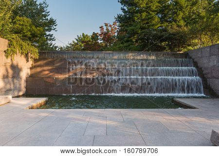 Waterfall In The Fdr Memorial