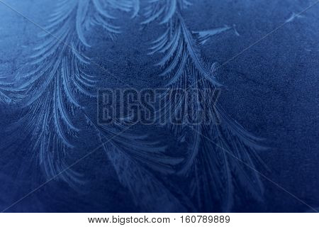 Frost patterns on glass with fine detail