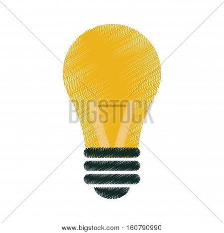 drawing bulb idea intelligence light vector illustration eps 10