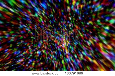 Abstract bright defocused rainbow christmas fractal background