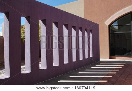 Abstract geometric architectural detail, Hispanic Cultural Center