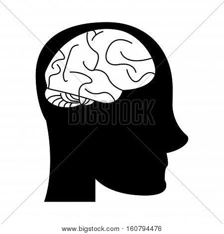 silhouette profile head brain idea imagination vector illustration eps 10