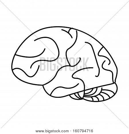 human brain idea creativity outline vector illustration eps 10