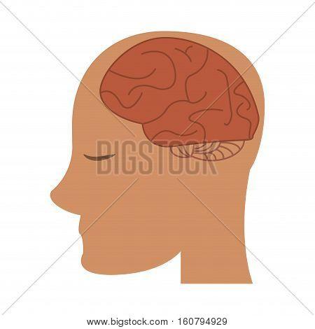 profile head brain idea imagination vector illustration eps 10