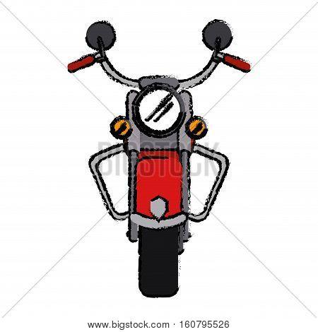 motorcyle speed transport steel sketchvector illustration eps 10