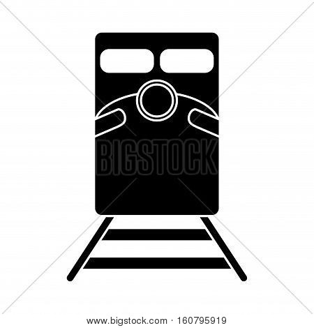 silhouette train rail road mass transit vector illustration eps 10