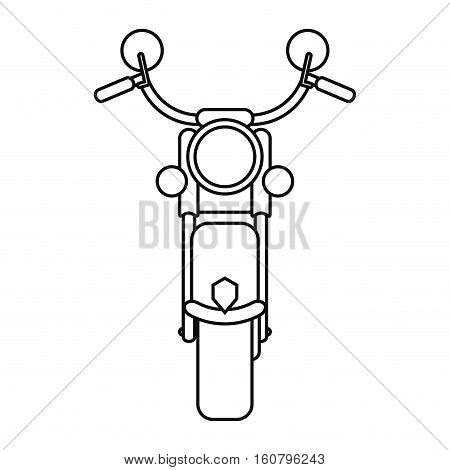 motorcyle speed transport steel outline vector illustration eps 10