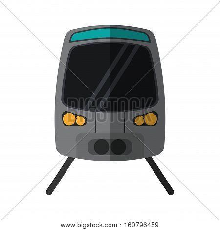 high speed train passenger rail road vector illustration eps 10