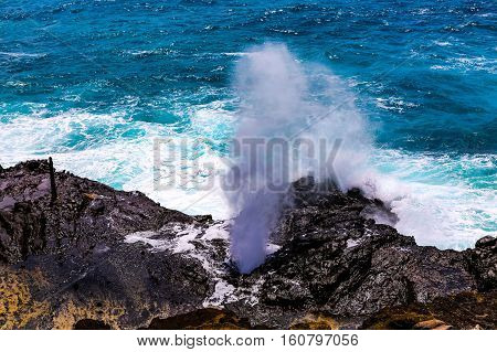 Halona Blow Hole Hawaii