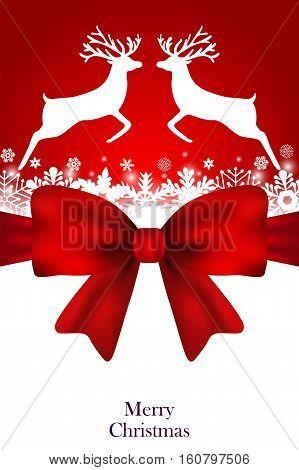 Christmas card greeting festive menu vector illustration