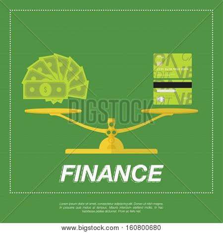 Dollar Currency Banknote Green And Credit Cards.