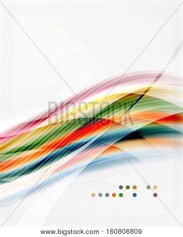 Modern hi-tech glossy glass wave, background