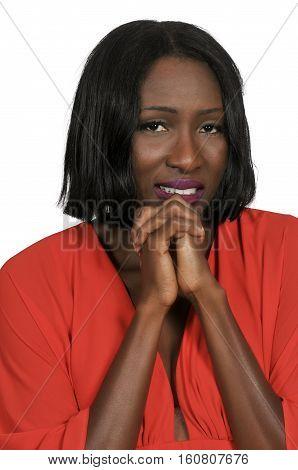 Hopeful Black Woman