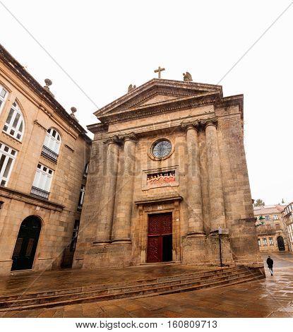 View of the church of Las Animas- the Souls in Santiago de Compostela