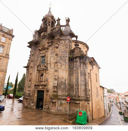 View of the Iglesia de San Fructuoso in Santiago de Compostela