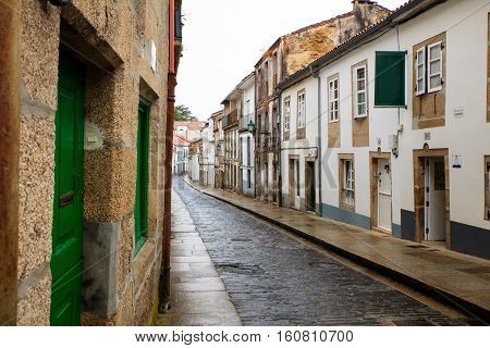 Typical street of Santiago the Compostela Spain