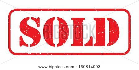 red sold stamp logo on a white background