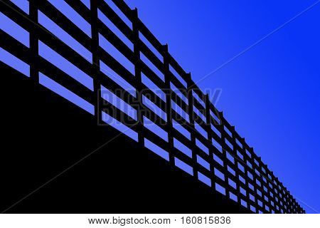 Structure isolate on a skyblue background. Part of the construction in Stadium. This has clipping path.