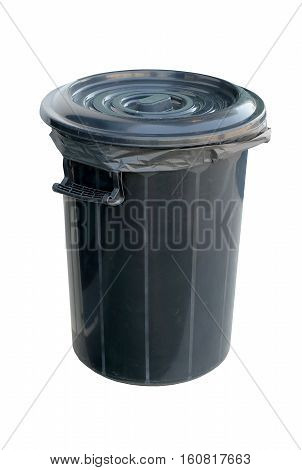 Black Trash, trash, plastic, trash cans and lids available.