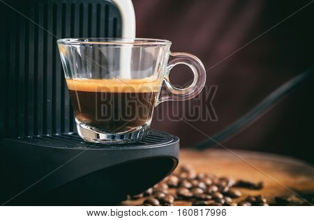 Espresso Coffee And Espresso Machine