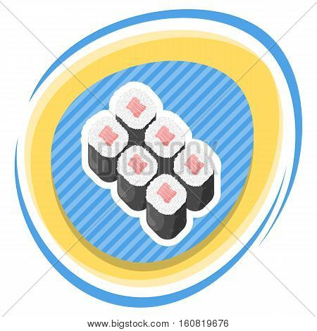 Vector illustration of sushi rolls, eps 10