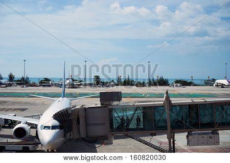 phuket, thailand: nov 30, 2016 - Phuket International Airport is an international airport serving Phuket Province of Thailand.