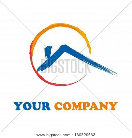 Vector sign House marking pen, isolated illustration